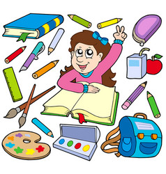 back to school collection 3 vector image