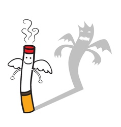 Bad cigarette vector image