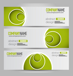 Banner template abstract background vector