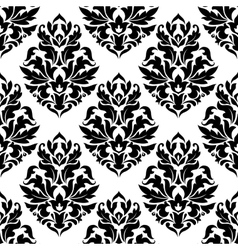 Bold damask seamless pattern vector