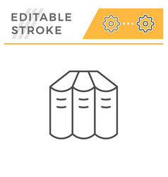 books set editable stroke line icon vector image