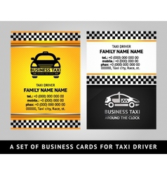 business card - taxi cab vector image