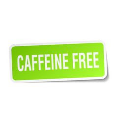 Caffeine free square sticker on white vector