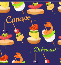 canape set designer seamless print pattern vector image