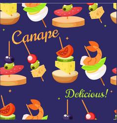 Canape set designer seamless print pattern vector