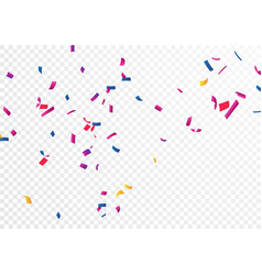 Celebration banner with colorful confetti vector