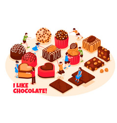 Chocolate products vector