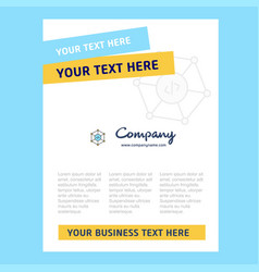 code title page design for company profile annual vector image