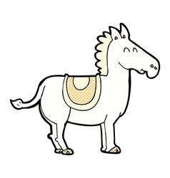 comic cartoon donkey vector image