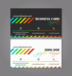 Corporate business card template The multiple vector