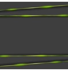 Dark tech background with glowing light vector