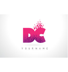 Dc d c letter logo with pink purple color and vector