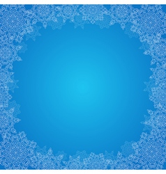 Decorative Christmas frame vector image