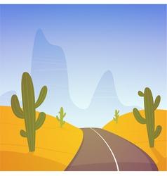Desert Road vector