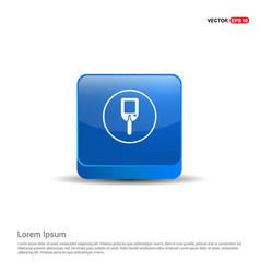 diabetes glucometer icons - 3d blue button vector image