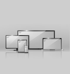 different sizes of screens - notebook vector image