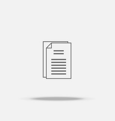 document paper flat icon with shadow vector image