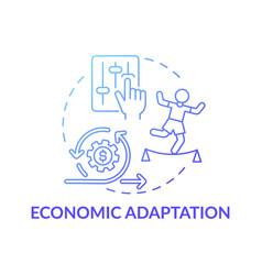 Economic adaptation concept icon vector