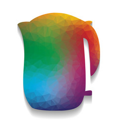 electric kettle sign colorful icon with vector image