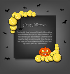 frame halloween with tennis balls vector image