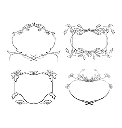 frames with flowers - set vector image