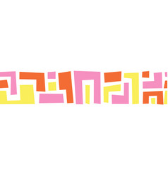 Geometric shapes pink yellow orange seamless vector