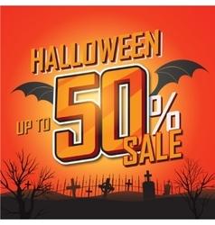 Halloween sale banner vector