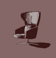 hand drawn armchair vector image
