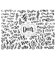 Hand drawn page decorations vector image