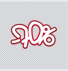 hand writing 70 percent discount sale banner vector image