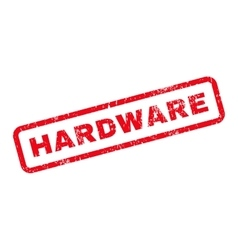 Hardware text rubber stamp vector