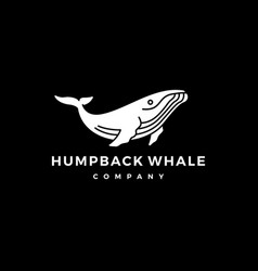 humpback whale logo icon vector image