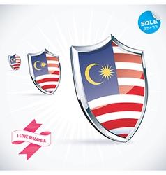 I Love Malaysia Flag vector image