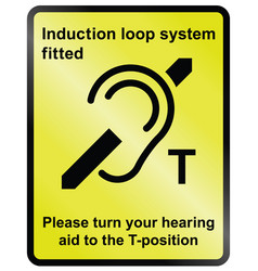 Induction loop facility vector