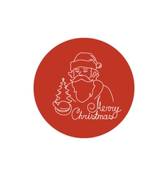 Linear Icon of a Santa Claus vector image