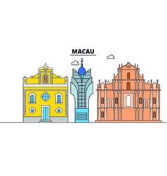 macau line skyline macau vector image