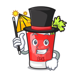 Magician bloody mary mascot cartoon vector