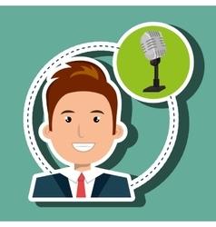 Man microphone audio speak vector