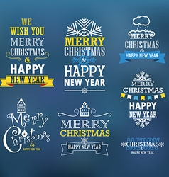 Merry Christmas and a happy New Year wishes vector image