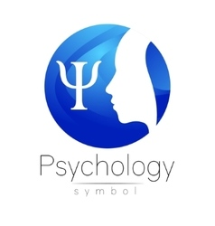 Modern head Logo sign of Psychology Profile Human vector image