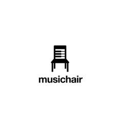 music chair logo design concept vector image