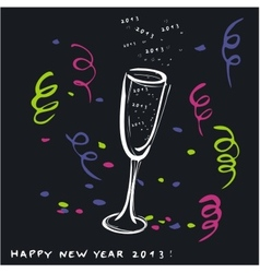 New year toast 2013 vector