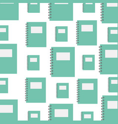 notebook school pattern background vector image