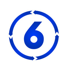 number 6 icon vector image