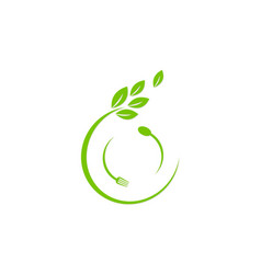 Organic food icon logo vector