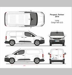 Peugeot partner cargo long van l2 2018-present vector