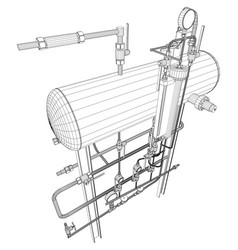 Picture heat exchanger on white vector