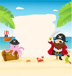 pirate template vector image