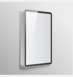 realistic light box template vector image