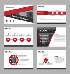 Red triangle Abstract presentation templates vector
